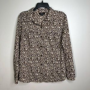 Style & Co Leopard Print Blouse | Long Sleeve Top